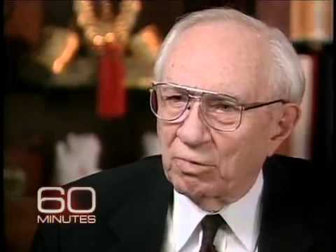 60Minutes MIKE WALLACE & PRESIDENT GORDON B  HINCKLEY