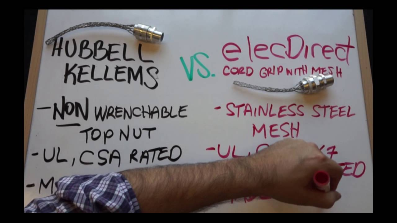 Cord Grips - ElecDirect vs. Hubbell Kellems™ - YouTube