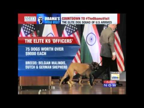 President Obama In India-  Air Force One, The Beast & K9 Dogs