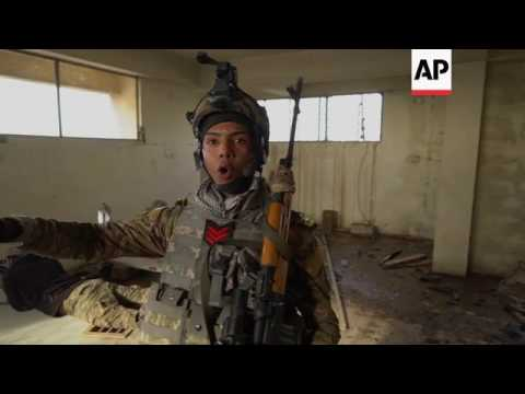 Dramatic battle video as troops advance in Mosul