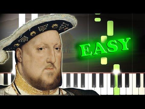 GREENSLEEVES  Easy Piano Tutorial