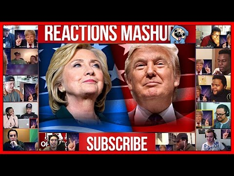 Donald Trump vs Hillary Clinton EPIC RAP BATTLE Reactions Mashup