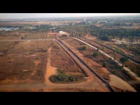 Landing at bangalore international airport India