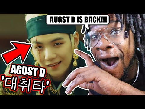 AMERICAN RAPPER REACTS TO AGUST D! | Agust D '대취타' MV (REACTION!)