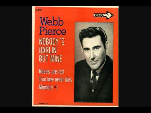 Webb Pierce ~ Here I Am Drunk Again