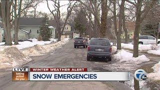 Snow emergencies declared across metro Detroit