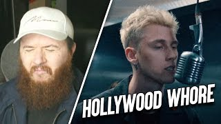 BRITISH GUY REACTS to Machine Gun Kelly - Hollywood Whore