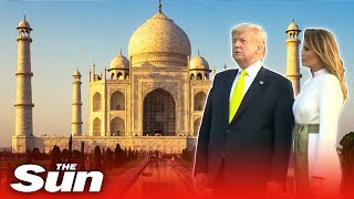 Donald Trump arrives at India's Taj Mahal after getting rock star reception from 110,000 fans
