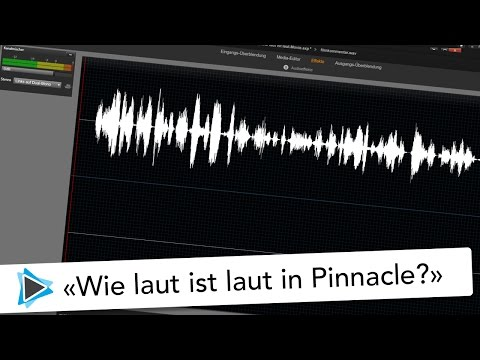 Lautstärke anpassen von Clips in Pinnacle Studio Deutsch Video Tutorial