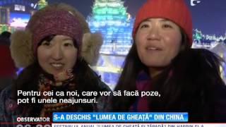 &quotFestivalul ghetii&quot din orasul chinez Harbin si-a deschis din nou portile