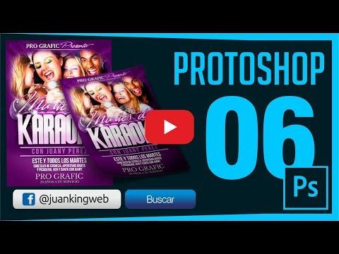 Como Diseñar un Flyer o Volante karaoke en Photoshop Capitulo 6 JuanKING