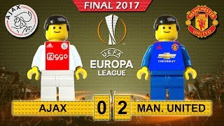 Europa League Final 2017 • Ajax vs Manchester United • goal highlights Lego Football film