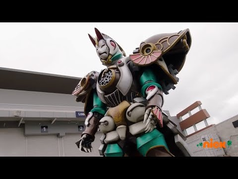 "Power Rangers Super Ninja Steel - Megazord Fight and Fox Zord | Episode 8 ""Caught Red-Handed"""