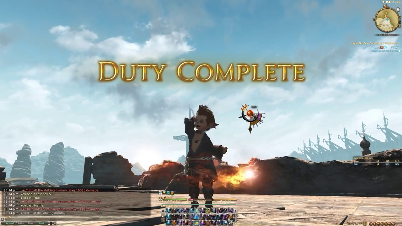 FFXIV - Deltascape V4 0 Dummy - BLM ilvl 335 - 5573 dps - W/ food and pot