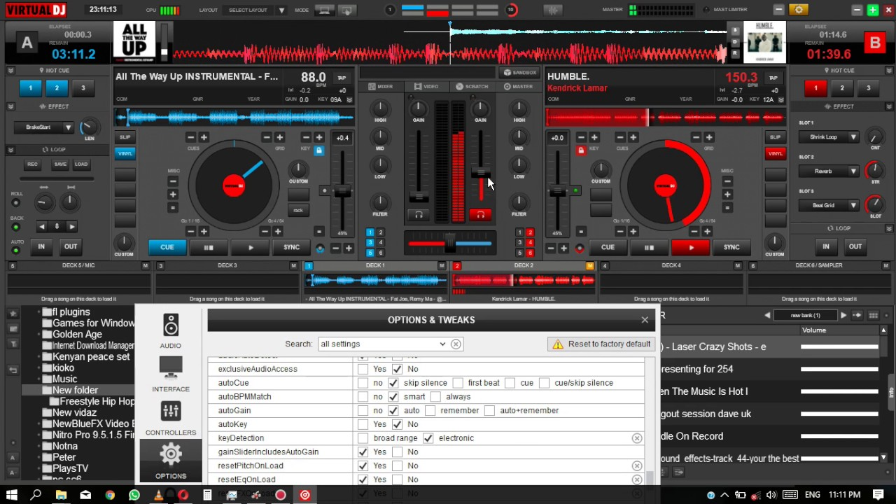 Virtual Dj 8 settings for scratching