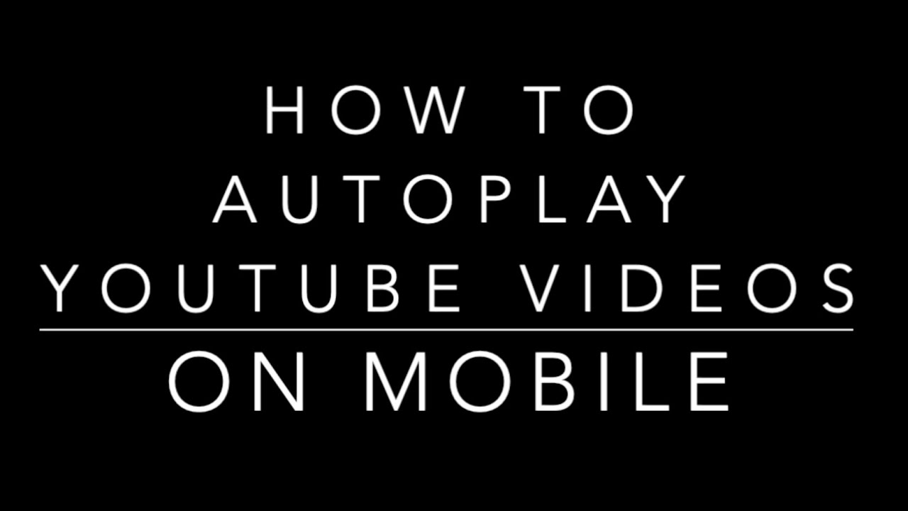 How to autoplay YouTube videos on mobile (android & iOS) using the EmbedPlus.com WordPress plugin