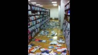 ジュンク堂書店郡山店、3月11日、地震発生時