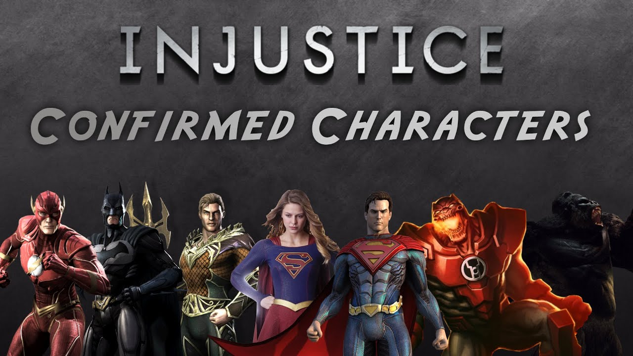 Injustice 2: Confirmed Characters - YouTube