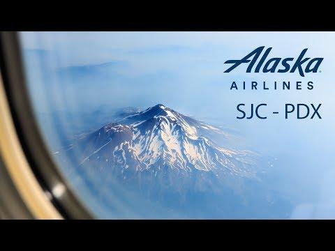 [4K] Trip Report Alaska Airlines Economy Class San Jose - Portland AS407