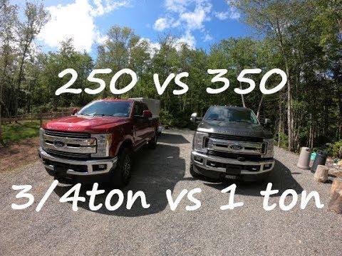 250 VS 350 3/4 TON VS 1 TON WHAT TO BUY?