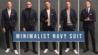 5 Minimalist Navy Suit Outfit Ideas | Men's Wardrobe Essentials