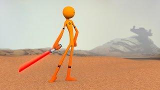 Stickman Character lightsaber Test Animation - Blender 3D | HG Animation