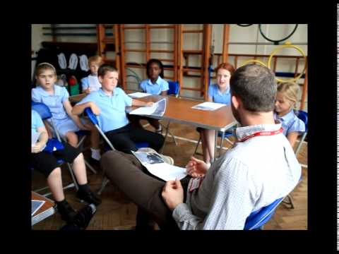 Actor Russell Tovey returns to his junior school