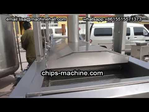 Industrial Continuous Frying Machine For Potato Chips