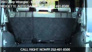 2007 Jeep Wrangler Unlimited X - for sale in HARBINGER, NC 2