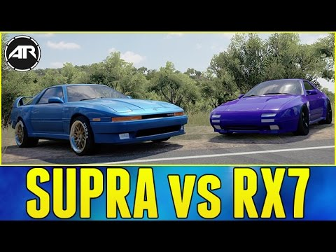 Toyota Supra 2016 >> Forza Horizon 3 : Widebody Toyota Supra vs Mazda RX7 Savanna Drift Battle!!! - YouTube
