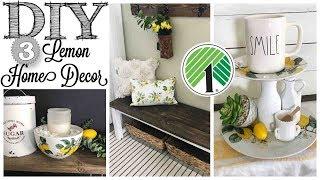DIY Dollar Tree Lemon Home Decor   3 PROJECTS!