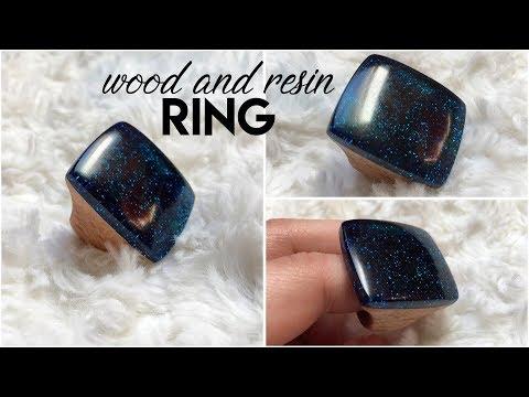 Gyanta gyűrű készítése DIY - Resin wood ring step by step [ENG SUB]!