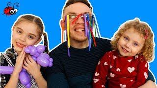 Invatam Culorile cu Baloanele Lungi si Colorate   Video Educativ   Learn Colors