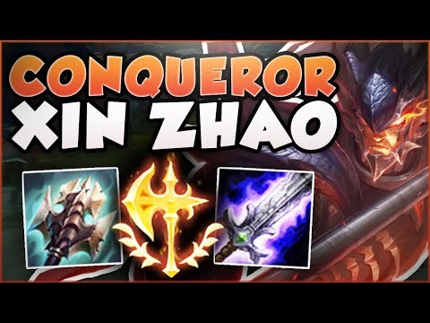 HOW RIDICULOUS IS THIS BURST FROM CONQUEROR XIN? XIN ZHAO SEASON 8 TOP GAMEPLAY! - League of Legends