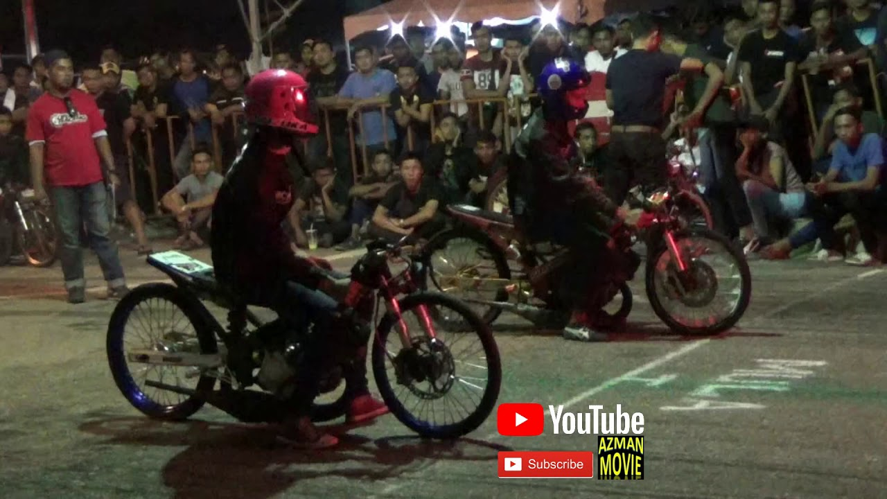 DRAG BIKE 2t 125 150 body open Drag Racing Kubang Menerong Ogos 2018