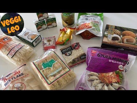 Vegan einkaufen im Asia Markt mit Verkostung | food haul