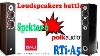 Polk Audio RTiA5 vs Dali Spektor 6