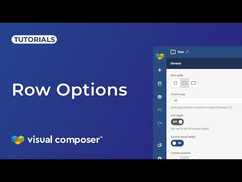 Row Options - Visual Composer Website Builder