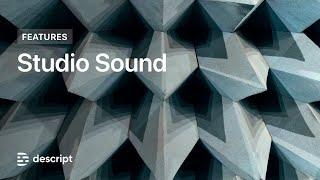 Descript - Studio Sound 베타 - 노이즈 리덕션 등