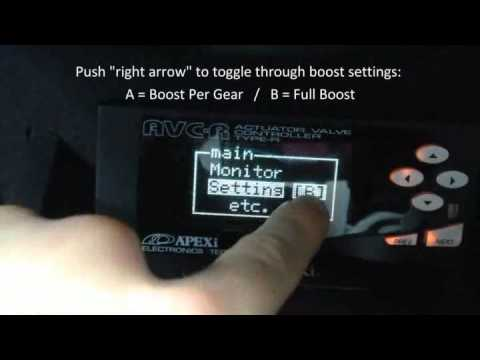 Apexi AVCr Boost Control Changing Setting in 400bhp Renault Clio