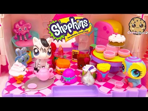 Shopkins Season 3 12 Pack + 5 Pack Unboxing During Littlest Pet Shop Tea Party Cookieswirlc Video
