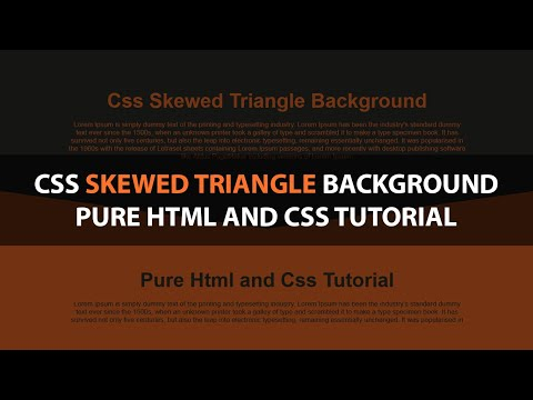 Css Skewed Triangle Background Pure Html And Css Tutorial