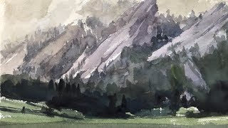 """Advancing with Watercolor: Tonal Values and Mood - """"The Flat Irons"""""""
