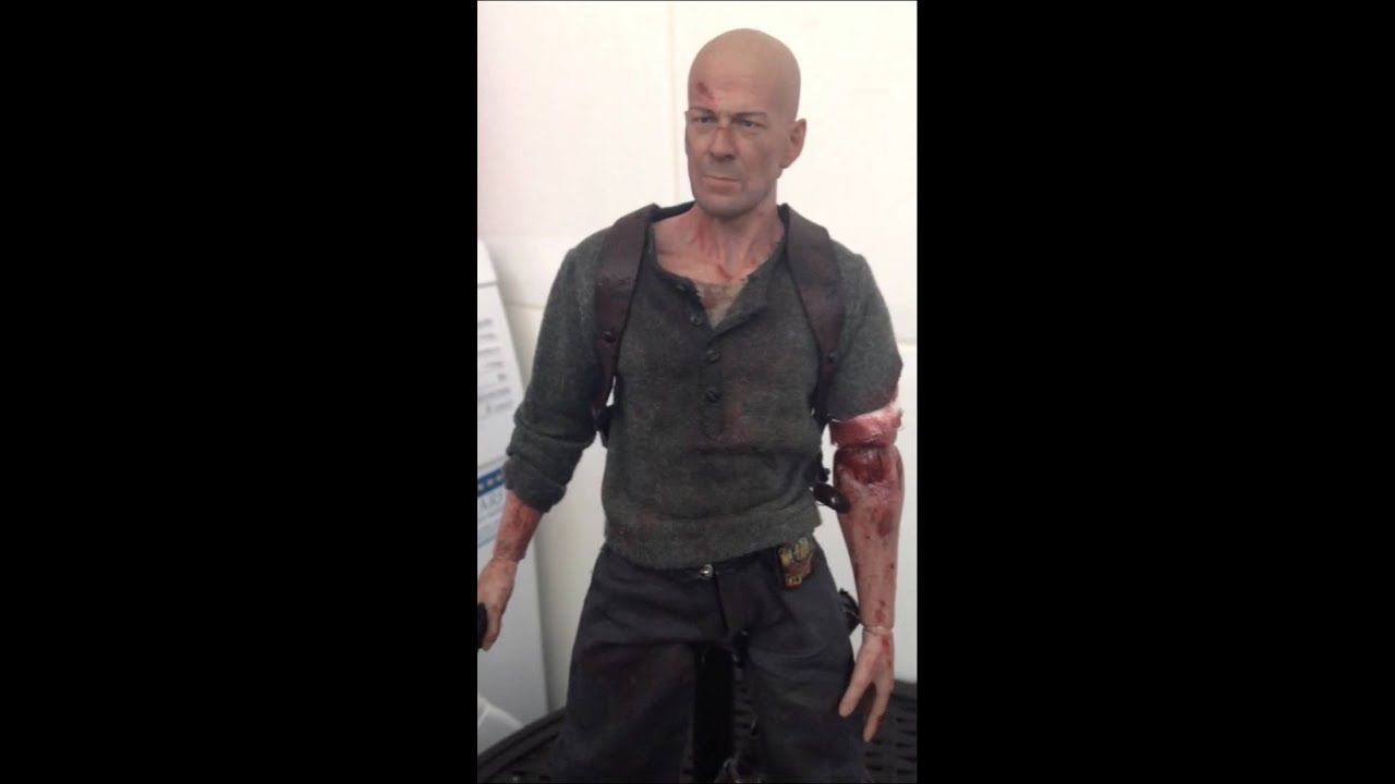 Hot toys bruce willis Die Hard custom - YouTube Bruce Willis Die Hard