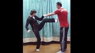 Вин Чун кунг-фу: урок 28. ЧУМ КИУ ТАО (ЛАП САУ и удар ногой в повороте)