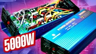 Мощный преобразователь 12-220 5000W обзор тест