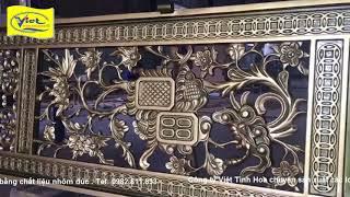 Cổng nhôm đúc Biên Hòa