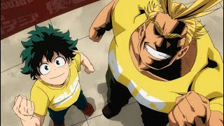 All Might and Midoriya moments (Dub)