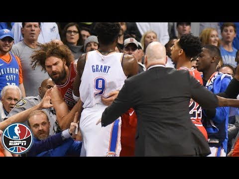 Tensions rise, Robin Lopez ejected as Thunder beat Bulls | NBA Highlights
