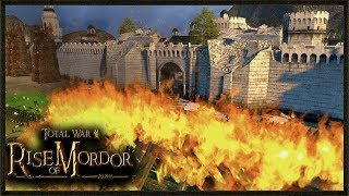 Siege Of The White Tower - NEW UPDATE! - Rise Of Mordor Total War Gameplay